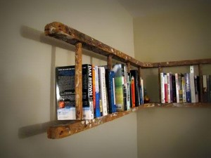 ladder-as-book-shelf